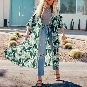 Rachel Zoe Palm Leaf Duster sz OS ✨